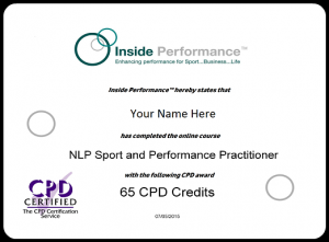 CPD Certificate Example